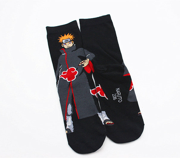 Anime Naruto Series Cosplay Socks Naruto Cotton Cartoon Socks Personality Tide Socks Men Calcetines Casual Funny Sock Meias Sox-geekbuyig