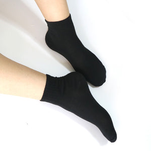 5pairs Short Socks For Men A Set Of Long Men High Cosy Socks 3d Black White Gray Color Man's High Socks Calcetines Hombre Meias-geekbuyig