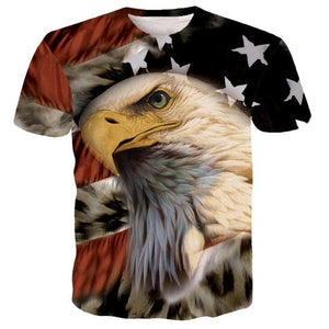 2018 New USA Flag T-shirt Men/Women Sexy 3d Tshirt Print Striped American Flag Men T Shirt Summer Tops Tees Plus 4XL 5XL-geekbuyig