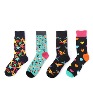 2018 New Men&Women Cotton Socks Colorful Funny Socks Paper Birds For Couples Lovers Gifts-geekbuyig