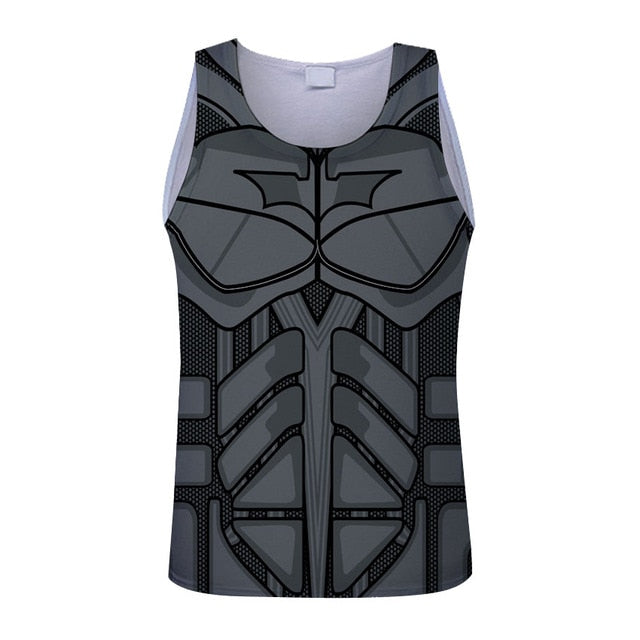 Bodybuilding Captain America Spider-man restoring ancient ways Tank Tops Men Anime Tops vest Fitness Tops Tees super singlets-geekbuyig