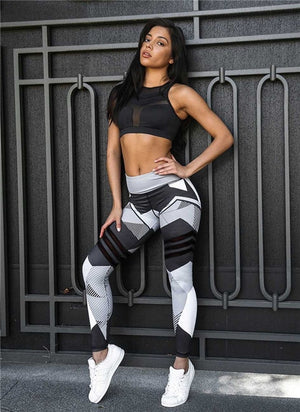 Wholesale 3d Digital Printed Geometric Fitness Leggings For Women 2018 Fashion Skinny Push Up Sweatpants Stretch Slim Leggings-geekbuyig