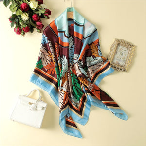 Peacesky Brand Women's Hot Sale Silk Scarf Square Scarves Shawl Wrap High Quality Print Beach Scarves SIZE 140*140 CM 20 colors-geekbuyig