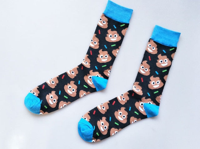 Fashion Europe and America new goods cartoon frog personality cotton men socks fun novelty cool street design gift Calcetines-geekbuyig