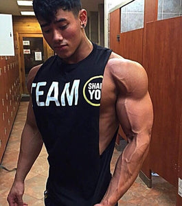 2018 musculation vest bodybuilding clothing and fitness men undershirt solid tank tops blank golds men undershirt-geekbuyig