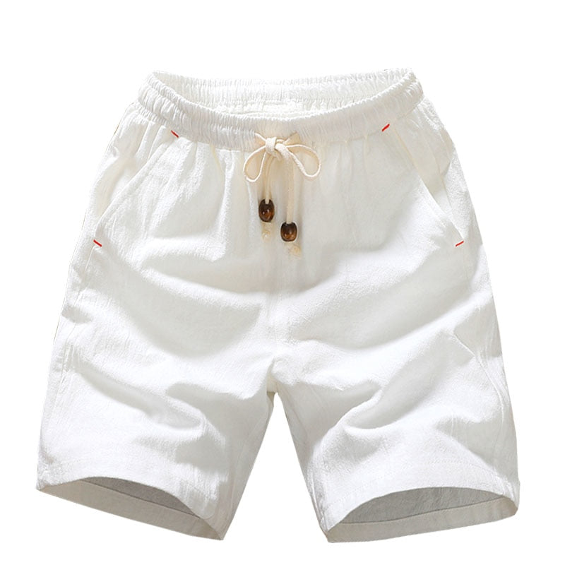 2018 Summer New Cotton Shorts Loose Men's Casual Shorts Black White Drawstring Waist Bermuda Shorts Men Plus Size 4XL 5XL-geekbuyig