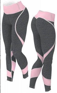2018 Fitness Legging Women High Waist Push Up Leggings High Quality Legins Pink Gray Fitness Legging Fitness Pants Women-geekbuyig