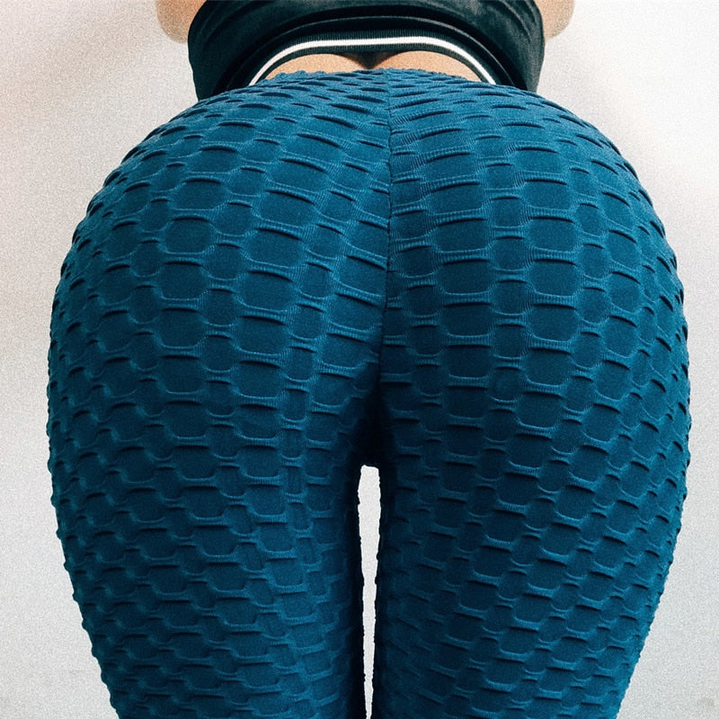 InstaHot Workout Elastic Ruched Leggings Women Fitness Pants Stretchy Sporty Sweatpants 2018 Spring Summer Casual Sexy Leggings-geekbuyig
