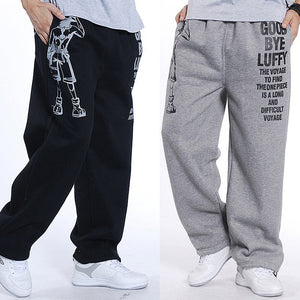 men Harem tactica Pants Thick Velvet Casual Sagging cotton pants men Trousers plus size sporting Pant Mens Joggers Feet pants5XL-geekbuyig