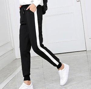 Womens Pants Trousers Long Pant Winter Spring Trouser Track Jumper Clothes Striped LMH105Z-geekbuyig