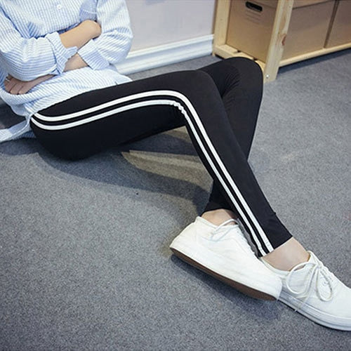 pants 2017 women pencil pants Side Striped Trousers High Waist casual fitness pants Pantalon Femme striped pants autumn spring-geekbuyig
