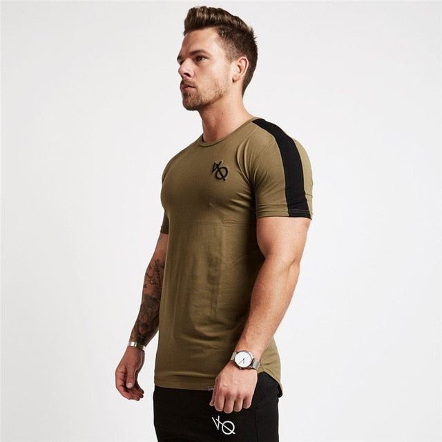 Vanquish Men T-shirt Short Sleeves White gray black Undershirt Male Solid Cotton Mens Tee Summer Jersey Brand Clothing Homme-geekbuyig