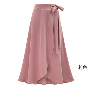 Womens Irregular Elastic Waist Plus Size A-line Skirts Hip Slim Medium-long Loose Plus Size Skirts Large Size Skirts-geekbuyig