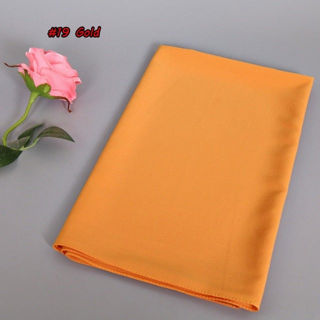 Fashion Foulard Bubble Chiffon Scarves National Muslim Scarf Women 20 Color Solid Color Thick Hijab Wholesale Drop Shipping-geekbuyig