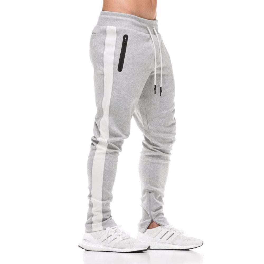 2018 Cotton Men Jogger sportswear Pants Casual Elastic cotton Mens Fitness Workout Pants skinny Sweatpants Trousers Jogger Pants-geekbuyig