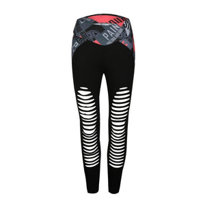 JLZLSHONGLE Fashion Patchwork Sexy Hollow Out Printed Women Leggings Summer Breathable Dry Quick Sporting Fitness Leggings-geekbuyig