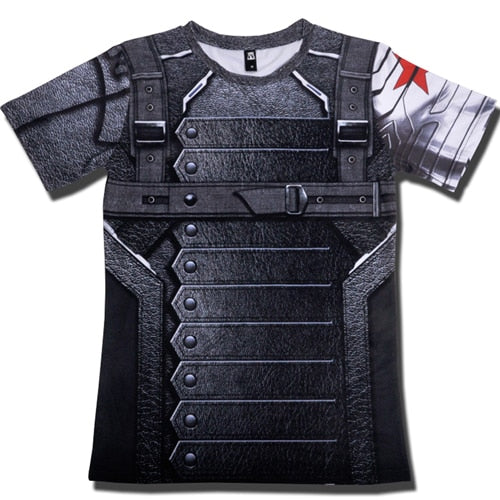 2018 T Shirt Captain America Civil War Tee 3D Printed T-shirts Men Marvel Avengers 3 iron man Fitness Clothing Male Crossfit Top-geekbuyig
