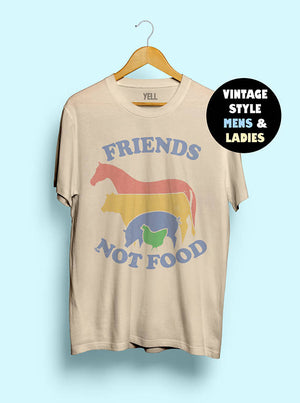 Hillbilly Friends Not Food T-shirt Vintage Tshirt Tee Gift for Vegan Shirt Vegetarian Natural Cute Tops Hippie 70s 80s 90s Tops-geekbuyig