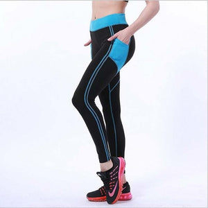 2018 New Splicing Style Leggings Put Hip Fold Elastic High Waist Legging Breathable Slim Pants-geekbuyig