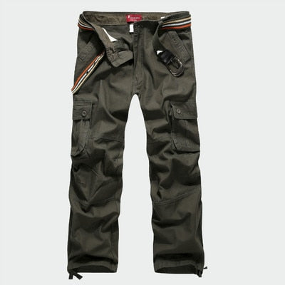 2017 Men's Cargo Pants Casual Mens Army Pant Multi Pocket Military Overall Men Outdoors High Quality Long Trousers No Belts 46-geekbuyig