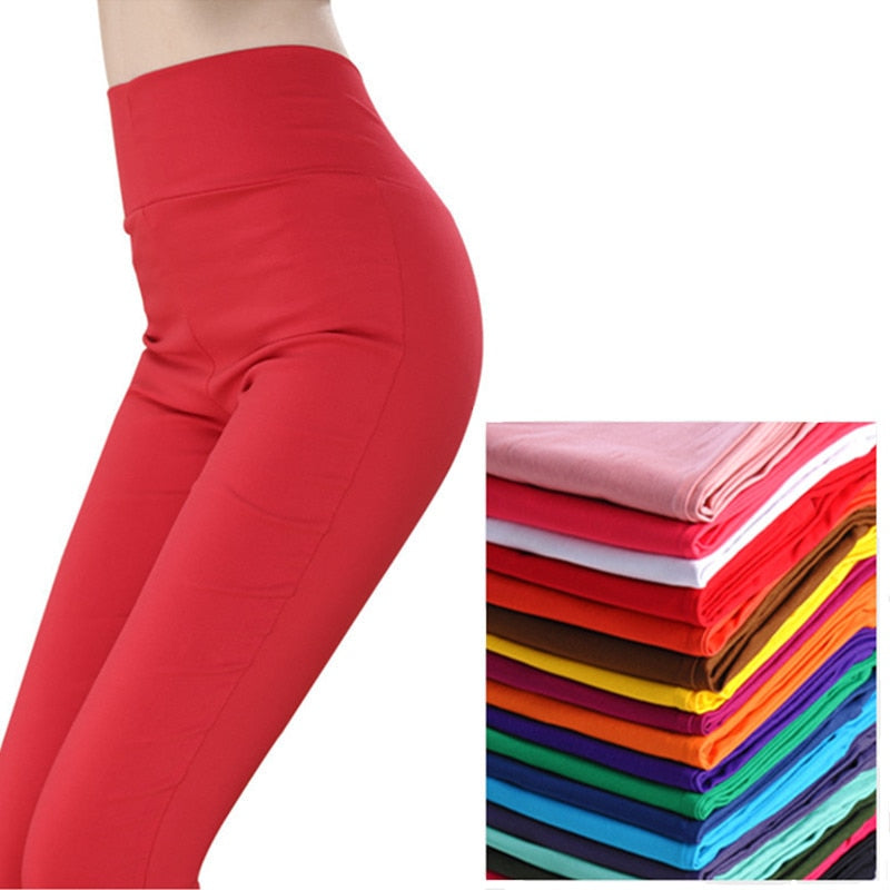 2018 Spring summer plus size pants women hight waist pencil pants women trousers girls friend pants leggings women pant 2018-geekbuyig