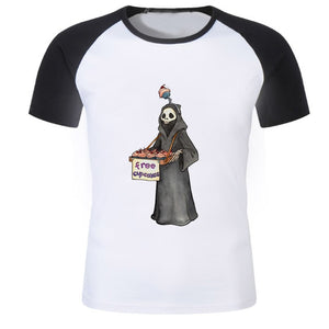 New Arrival 2018 Men satan Printed T-Shirt American horror story tshirt demon death scary evil men t shirts supernatural shirt-geekbuyig
