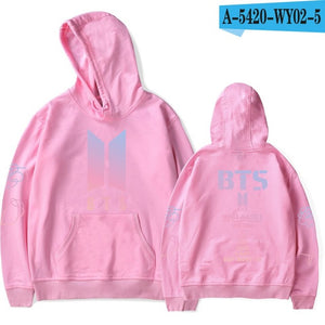 hip hop BTS K-pop LOVE YOURSELF Women Hoodies Sweatshirts Fans New Album DNA streetwear style Hoodie plus size Winter Clothes-geekbuyig