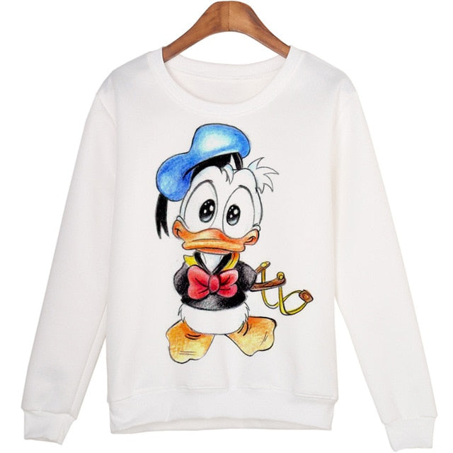 BAEKADOO Cute Animal Sweatshirts Sudaderas mujer Harajuku Pullovers Tops Winter Warm-geekbuyig