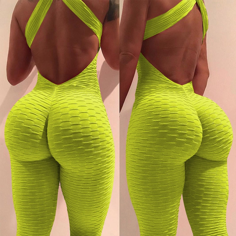 2018 New sexy full bandage sporting bodysuit Sleeveless solid jumpsuit and romper Summer bodycon overalls fitness jumpsuits-geekbuyig