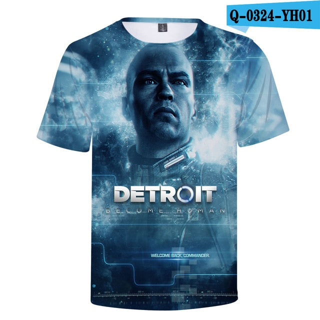BTS 2018 Hot Detroit Become Human T-Shirt Unisex Summer Short Sleeve 3D Print KARA Connor Tshirt Women Detroit Casual O-Neck Top-geekbuyig