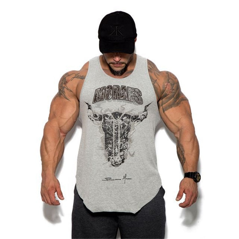 New brand Mens Tank top Gyms Fitness Bodybuilding sleeveless shirt Male Cotton Crossfits clothing Casual Singlet vest Undershirt-geekbuyig