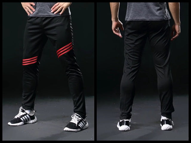 2018 New Men leg opening zipper sportswear Pants Casual Elastic Waist GYMS Fitness Workout Trousers skinny Sweatpants Jogger-geekbuyig