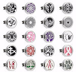 Tree Of life Paw 30mm Magnetic Essential Oil Car Diffuser Locket Vent Clip Aromatherapy Perfume Locket 10pcs Pads Drop Shipping-geekbuyig