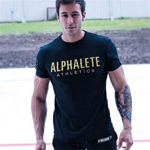 Mens Short sleeved cotton t shirt 2018 Summer New Gyms Fitness workout male Fashion Casual Bodybuilding Slim Tee tops clothing-geekbuyig