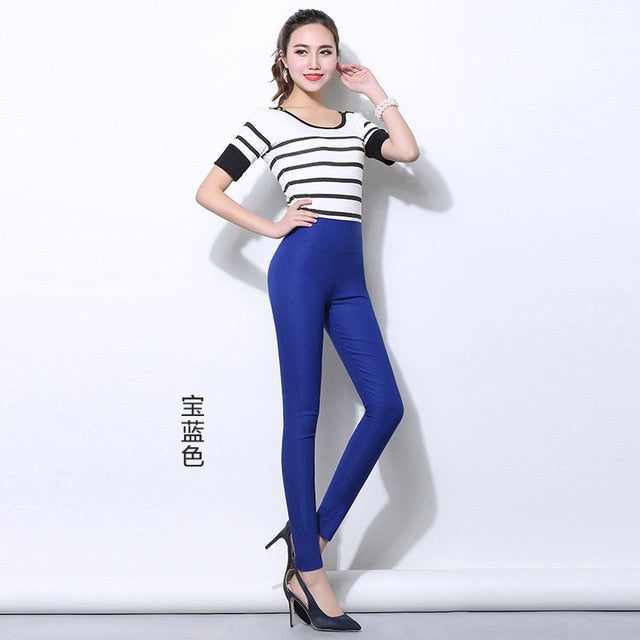 New Arrival High Quality Spring and Autumn Women leggings Plus size 6XL Big Size Candy colors High Waist women's pants-geekbuyig
