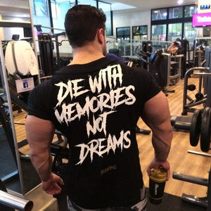 2018 summer New mens gyms T shirt Fitness Bodybuilding Shirts Printed Fashion Male Short cotton clothing Brand Tee Tops-geekbuyig