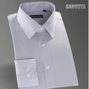 plus sizeSpring 2018 New arrival men dress shirts simple style twill turn-down collar mens shirts high quality striped shirt men-geekbuyig