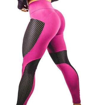Slim Mesh Patchwork Fitness Push Up Leggings Summer Women Casual Elastic Leggings Adventure Time Workout Cool Sexy Pants XS-XL-geekbuyig