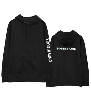 Kpop WANNA ONE PARK JIHOON Album Laser Hoodie HipHop Casual Cotton Hoodies With Hat Printed Long Sleeve Sweatshirts WY666-geekbuyig