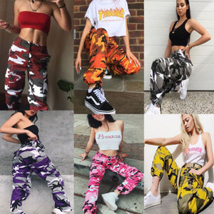 new fashion Women Camo Cargo Trousers Casual Pants Military Army Combat Camouflage pants-geekbuyig