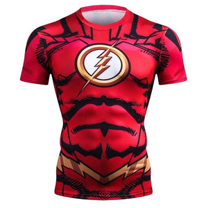 Spiderman 3D Print t shirts Men Compression fitness shirts Superhero Tops costume Short Sleeve Fitness Crossfit T-shirts-geekbuyig