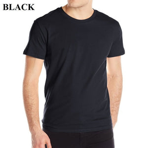 RFBear Brand Men's Cotton T Shirt 2018 Summer New T-shirt Men O-Neck Tshirts Short Sleeve Solid Color Male Top Tees-geekbuyig