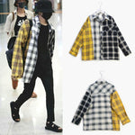 New Kpop BTS Bangtan Boy BT21 SUGA Same Unisex Fashion Plaid Blouse Sweatshirt Korean Style Pocket Multicolor Lightweight Shirts-geekbuyig