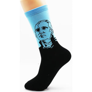 New cotton interesting personality world famous painting pattern men in the tube socks high quality combed cotton socks 1 pairs-geekbuyig