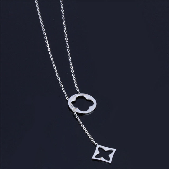 SHE WEIRE long necklaces & pendants women neckless silver stainless steel chain necklace collares fashion jewelry Jesus cross-geekbuyig