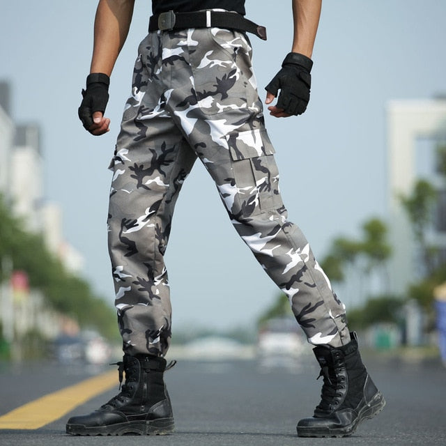 Tactical Pants Cargo Pants Men Camouflage Trousers Working Pantolon Fashion Joggers Men SWAT Army Military Style Camo Clothes-geekbuyig