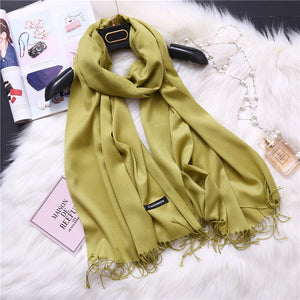 Fashion 2018 new spring winter scarves for women shawls and wraps lady pashmina pure long cashmere head scarf hijabs stoles-geekbuyig