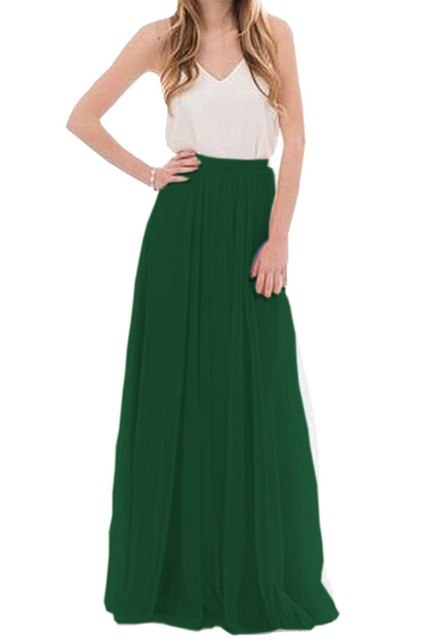 Women 3 Layers Lace Maxi Long Skirt Soft Tulle Skirts Wedding Bridesmaid Skirt Ball Gown Faldas Saias Femininas Jupe Plus Size-geekbuyig