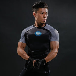 New Black Panther Brand T-Shirt 3D Printed Summer T Shirt Men Compression Crossfit TShirt Short Sleeve Casual Shirt Tops & Tees-geekbuyig