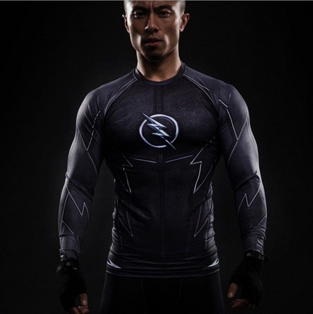 Black Panther T Shirt Captain America 3 Superhero Winter Soldier 3D Printed T-shirts Fitness Men Crossfit Compression Shirt Tops-geekbuyig